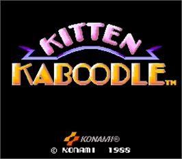 Title screen of Kitten Kaboodle on the Arcade.