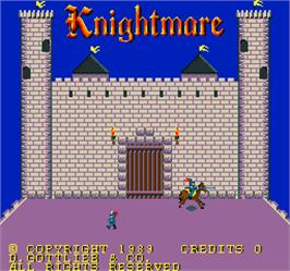 Title screen of Knightmare on the Arcade.