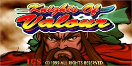 Title screen of Knights of Valour / Sangoku Senki on the Arcade.
