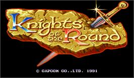 Title screen of Knights of the Round on the Arcade.