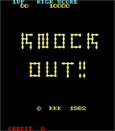 Title screen of Knock Out!! on the Arcade.