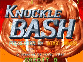 Title screen of Knuckle Bash on the Arcade.