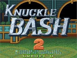 Title screen of Knuckle Bash 2 on the Arcade.