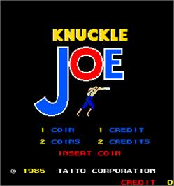 Title screen of Knuckle Joe on the Arcade.