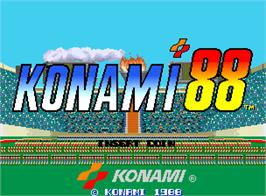 Title screen of Konami '88 on the Arcade.