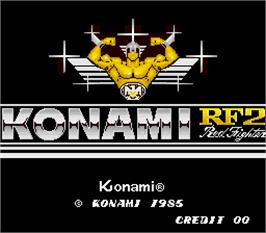 Title screen of Konami RF2 - Red Fighter on the Arcade.