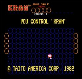 Title screen of Kram on the Arcade.
