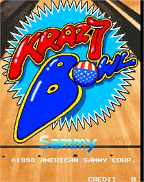 Title screen of Krazy Bowl on the Arcade.