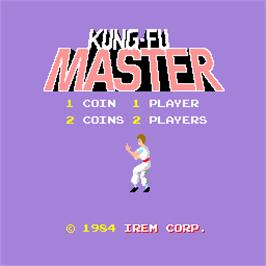 Title screen of Kung-Fu Master on the Arcade.