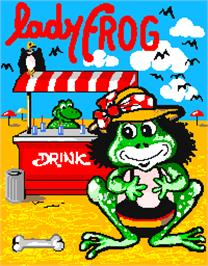 Title screen of Lady Frog on the Arcade.