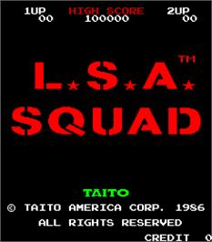 Title screen of Land Sea Air Squad / Riku Kai Kuu Saizensen on the Arcade.