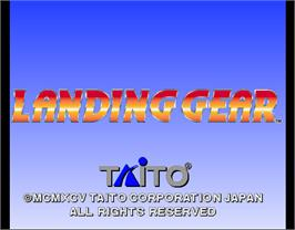 Title screen of Landing Gear on the Arcade.