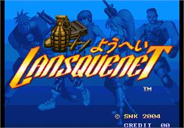 Title screen of Lansquenet 2004 on the Arcade.
