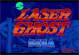 Title screen of Laser Ghost on the Arcade.