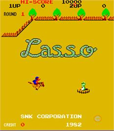 Title screen of Lasso on the Arcade.