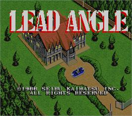 Title screen of Lead Angle on the Arcade.