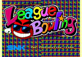 Title screen of League Bowling on the Arcade.