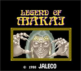 Title screen of Legend of Makai on the Arcade.