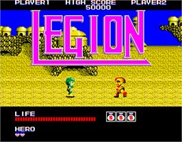 Title screen of Legion on the Arcade.