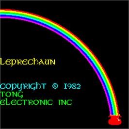 Title screen of Leprechaun on the Arcade.