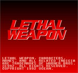 Title screen of Lethal Weapon on the Arcade.