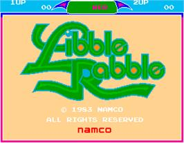 Title screen of Libble Rabble on the Arcade.