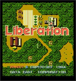 Title screen of Liberation on the Arcade.