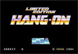 Title screen of Limited Edition Hang-On on the Arcade.