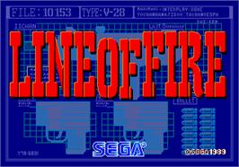 Title screen of Line of Fire / Bakudan Yarou on the Arcade.