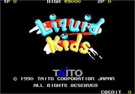 Title screen of Liquid Kids on the Arcade.