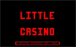 Title screen of Little Casino on the Arcade.