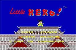 Title screen of Little Hero on the Arcade.
