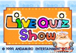 Title screen of Live Quiz Show on the Arcade.