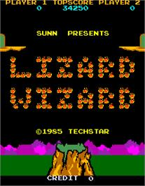 Title screen of Lizard Wizard on the Arcade.