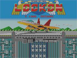 Title screen of Lock-On on the Arcade.