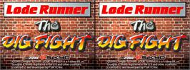 Title screen of Lode Runner - The Dig Fight on the Arcade.