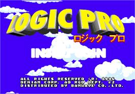Title screen of Logic Pro on the Arcade.