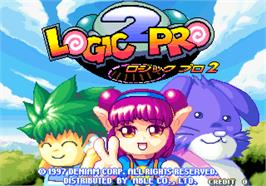 Title screen of Logic Pro 2 on the Arcade.