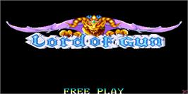 Title screen of Lord of Gun on the Arcade.