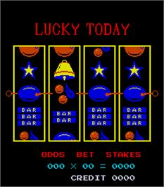 Title screen of Lucky Today on the Arcade.