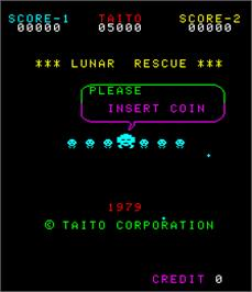 Title screen of Lunar Rescue on the Arcade.