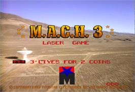 Title screen of M.A.C.H. 3 on the Arcade.