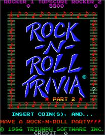Title screen of MTV Rock-N-Roll Trivia on the Arcade.