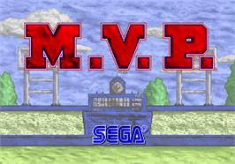 Title screen of MVP on the Arcade.