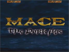 Title screen of Mace: The Dark Age on the Arcade.