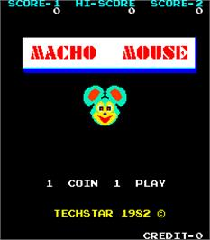 Title screen of Macho Mouse on the Arcade.