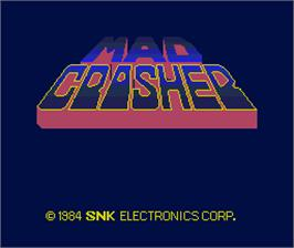 Title screen of Mad Crasher on the Arcade.