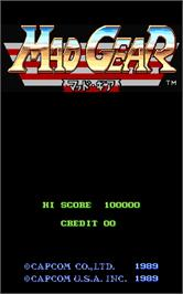Title screen of Mad Gear on the Arcade.