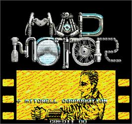 Title screen of Mad Motor on the Arcade.