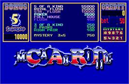 Title screen of Magic Card II on the Arcade.